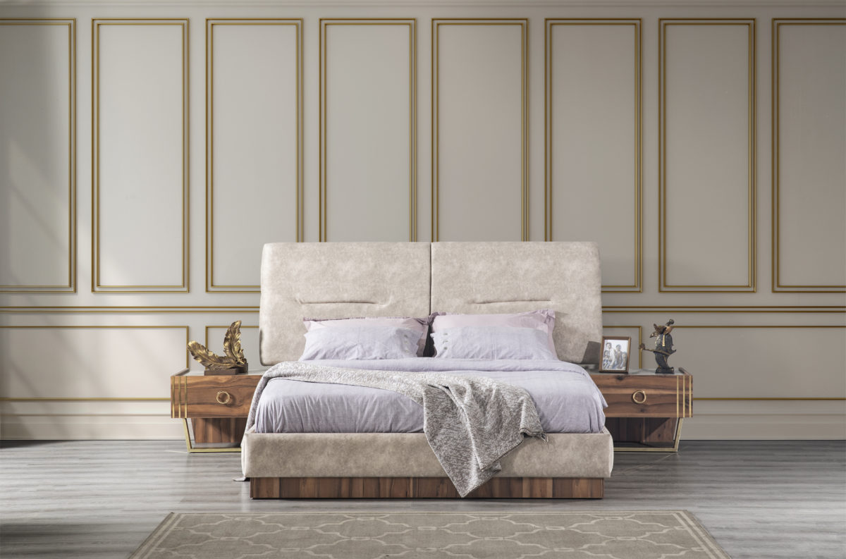 Buse Yatak Odası Gold Karyola