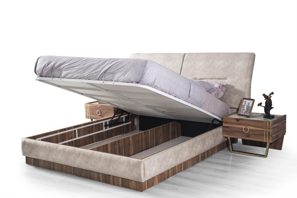 Buse Yatak Odası Gold Karyola baza