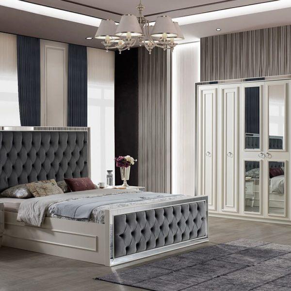 İnci Beyaz Mdf Yatak Odası Takımı