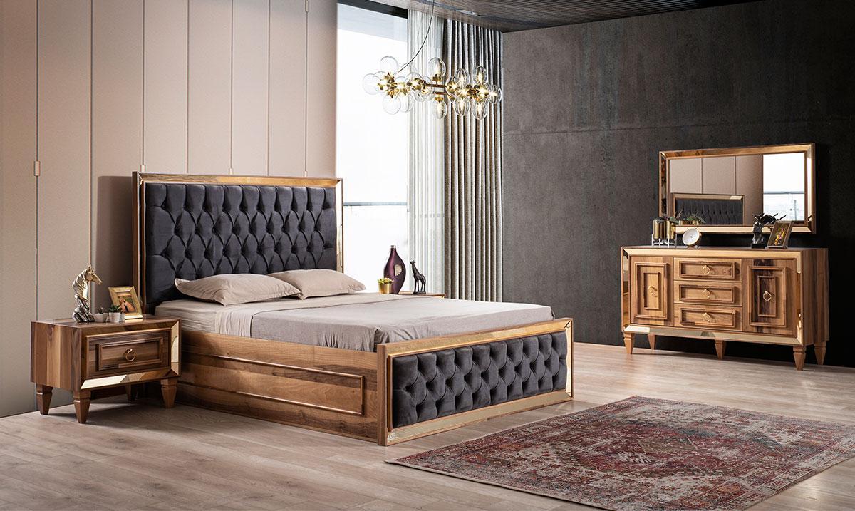İnci Ceviz Mdf Yatak Odası Takım