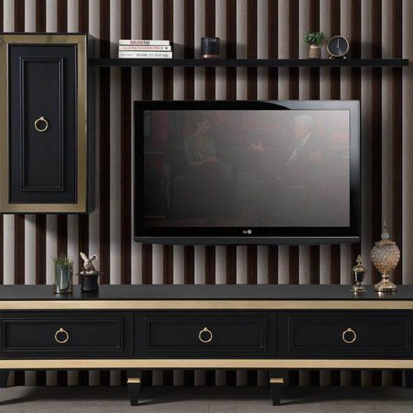 İnci Mdf Siyah Tv Ünitesi