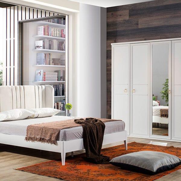 Melis Beyaz Yatak Odası Takımı
