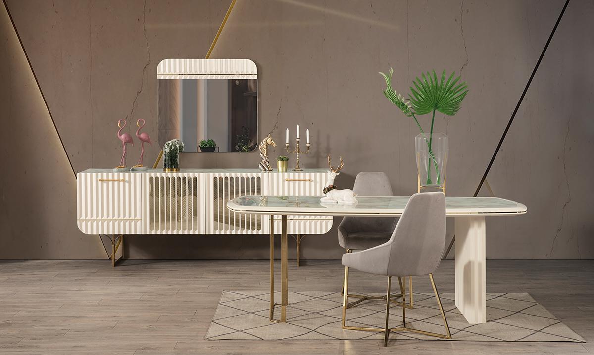 Antre Yemek Odası Beyaz