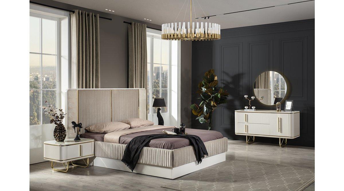 Paris Ekru Yatak Odası Takım
