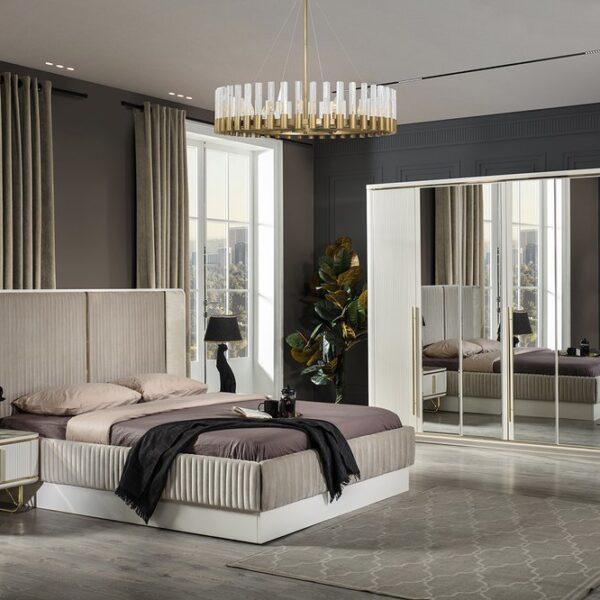Paris Ekru Yatak Odası Takımı